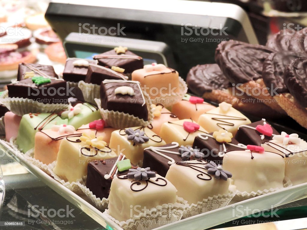 Petit Four stock photo
