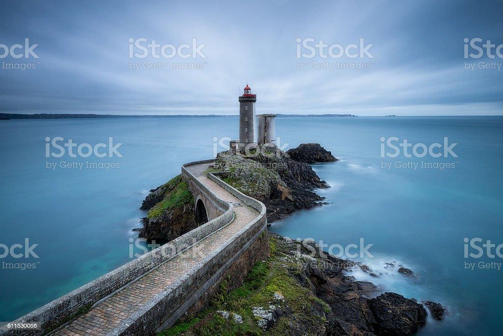Petit Minou lighthouse stock photo