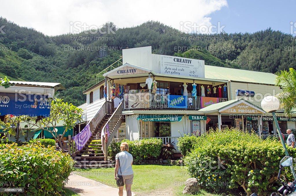 Petit Village Moorea royalty-free stock photo