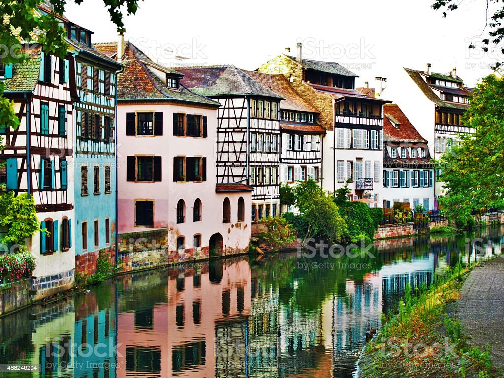 Petite France in Strasbourg stock photo