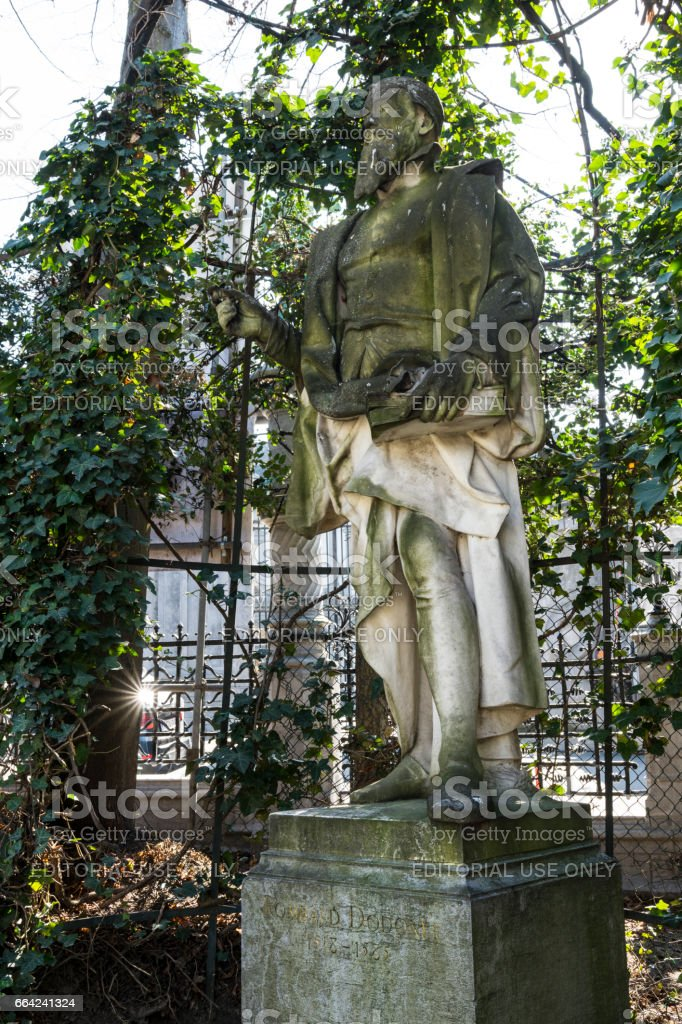 Petite Sablon square in Brussels stock photo