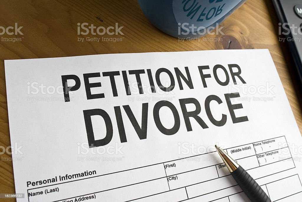 Petition for Divorce royalty-free stock photo