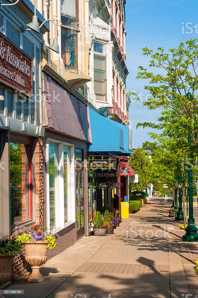 Petoskey businesses stock photo