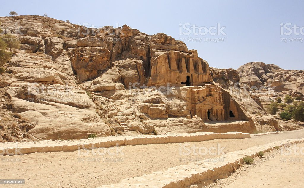 Petra ancient city in Jordan. Middle East stock photo