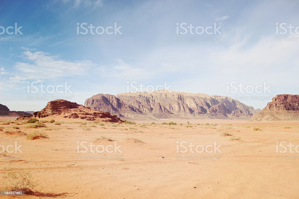 Petra Canyon view in Jordan stock photo