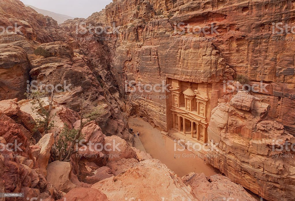 Petra. Jordan stock photo