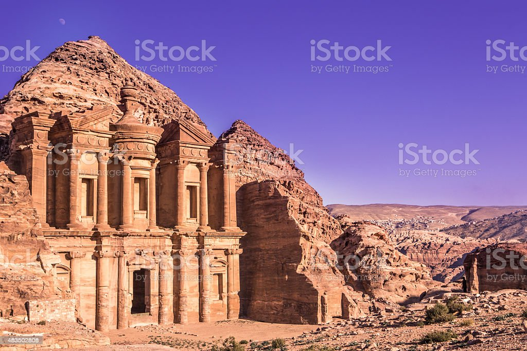 Petra monastery, Jordan stock photo
