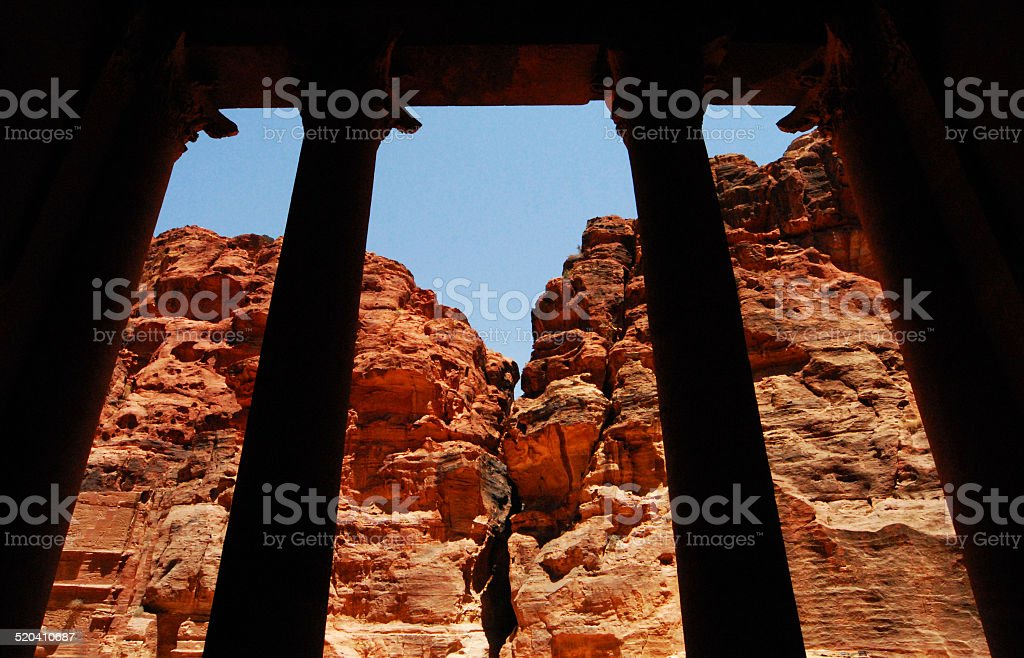 Petra: the Khazneh / Treasury stock photo
