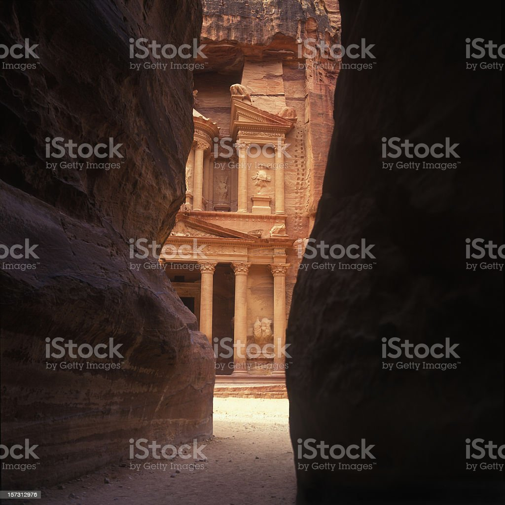Petra the magnificient stock photo
