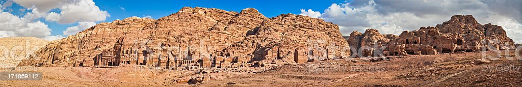 Petra : The Royal Tombs stock photo
