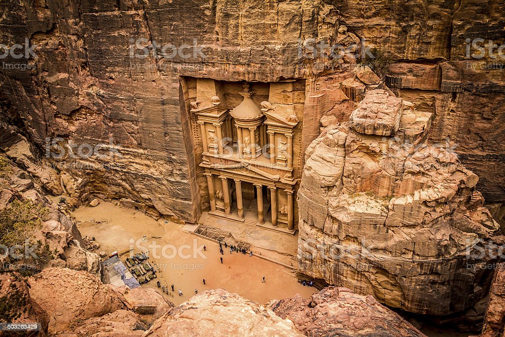 Petra - the treasury Jordan stock photo