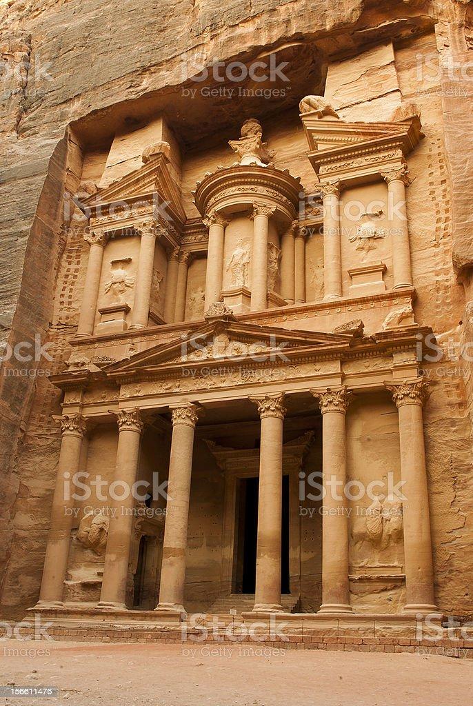 Petra's khazneh royalty-free stock photo
