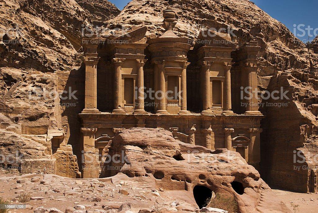Petra's monastery royalty-free stock photo