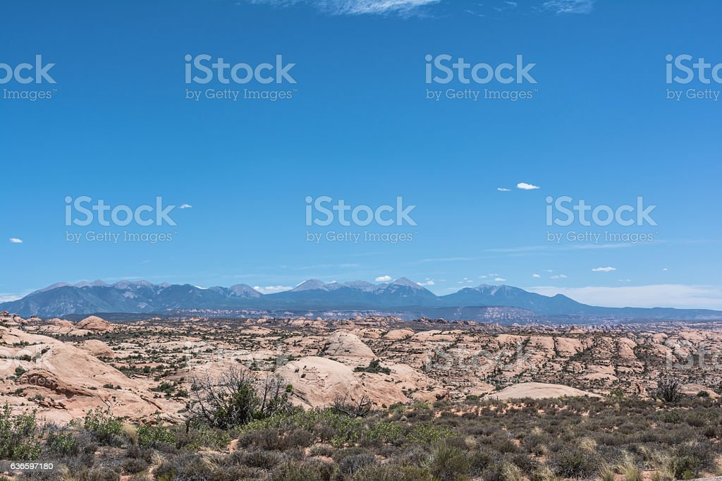 Petrified Dunes in Arches National Park, Utah stock photo