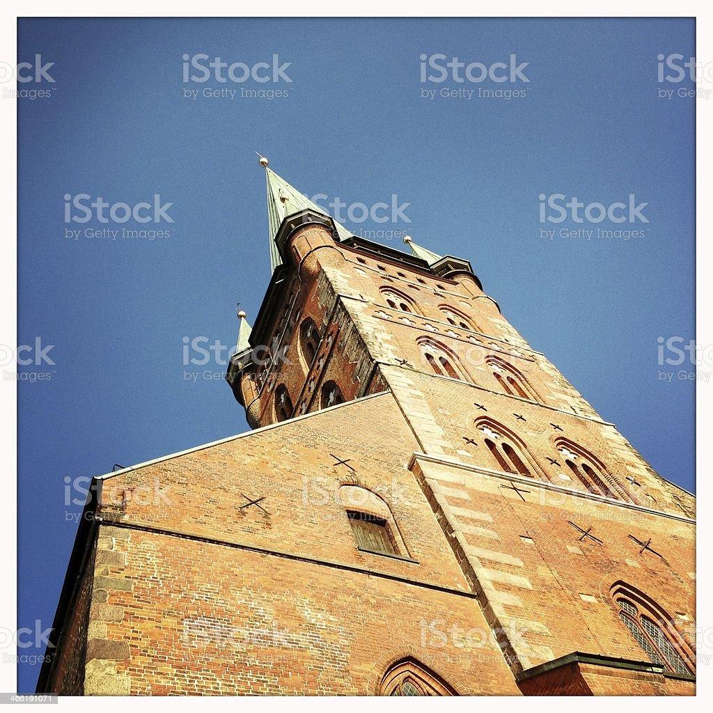 Petrikirche in L?beck stock photo