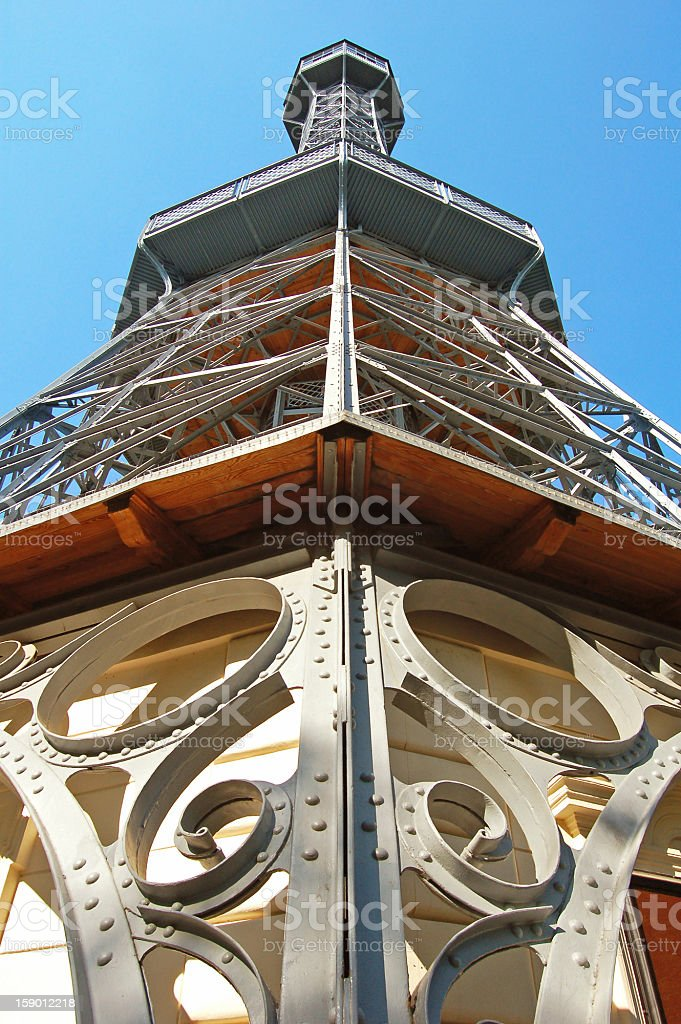 Petrin Lookout Tower royalty-free stock photo