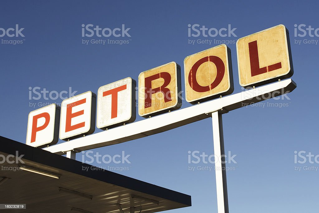 petro retro with individual paths on letters royalty-free stock photo