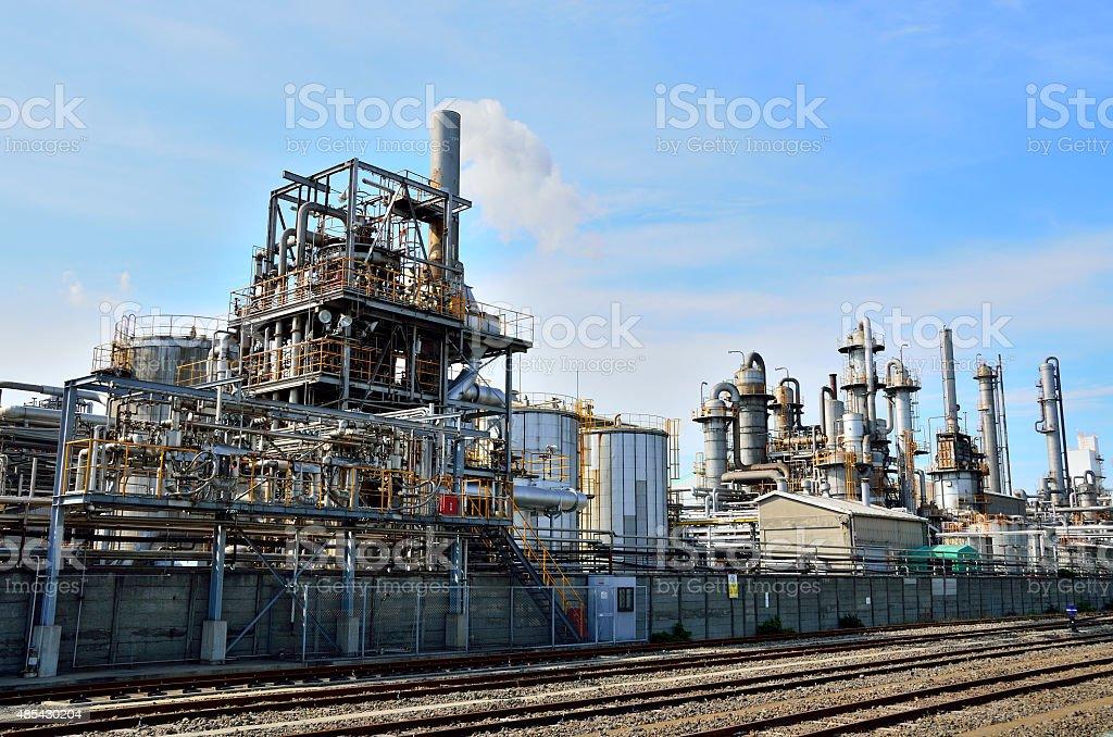 petrochemical industrial plant, Keihin Industrial Area, Kawasaki, Japan stock photo