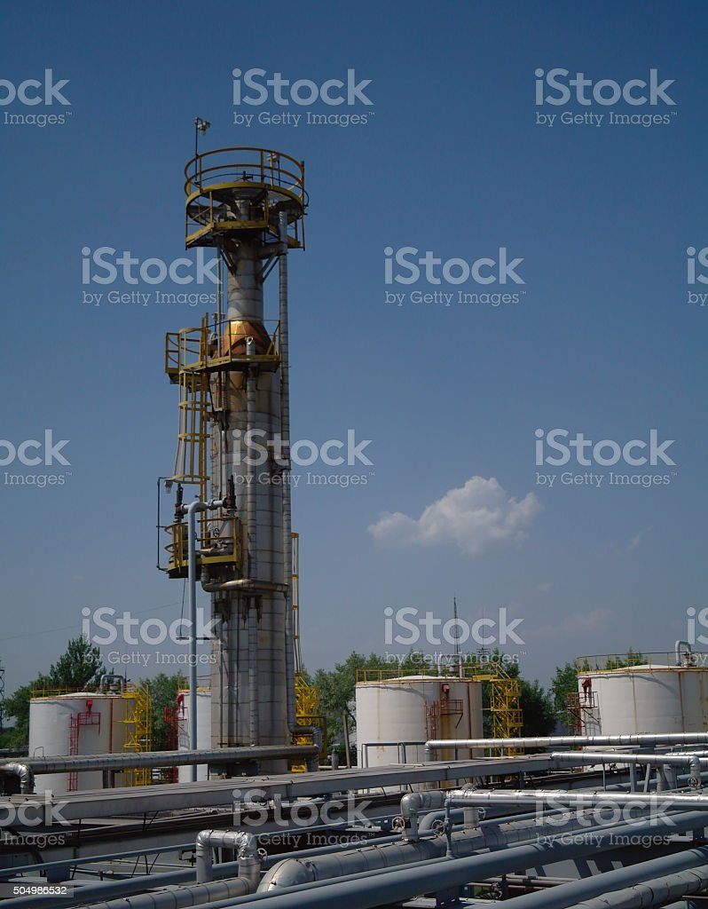 petrochemical industrial plant stock photo