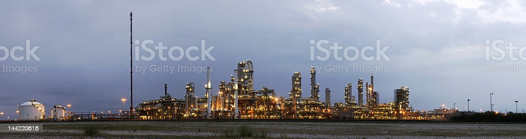 Petrochemical industry at dawn royalty-free stock photo