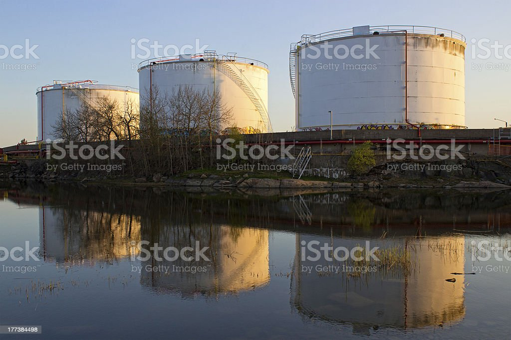 Petrochemical industry containers royalty-free stock photo