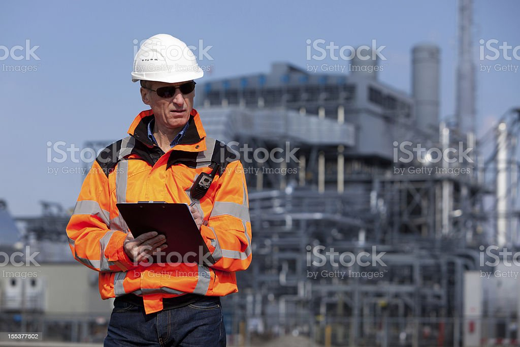 Petrochemical industry inspector royalty-free stock photo