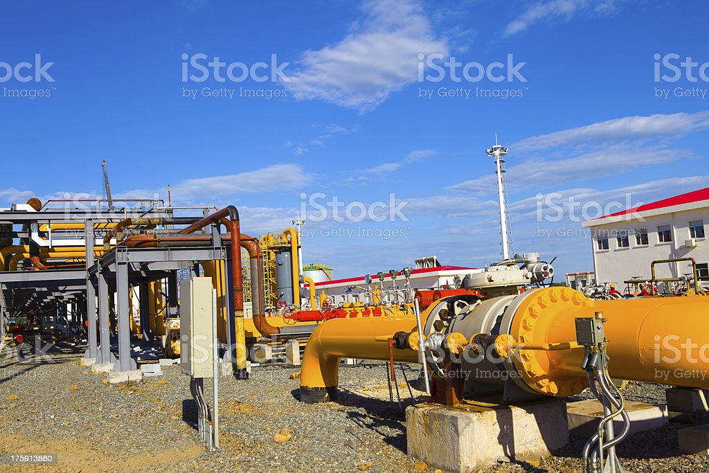 Petrochemical industry royalty-free stock photo