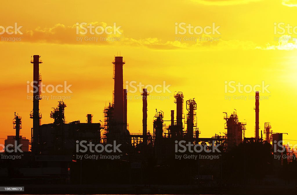 petrochemical oil refinery factory royalty-free stock photo