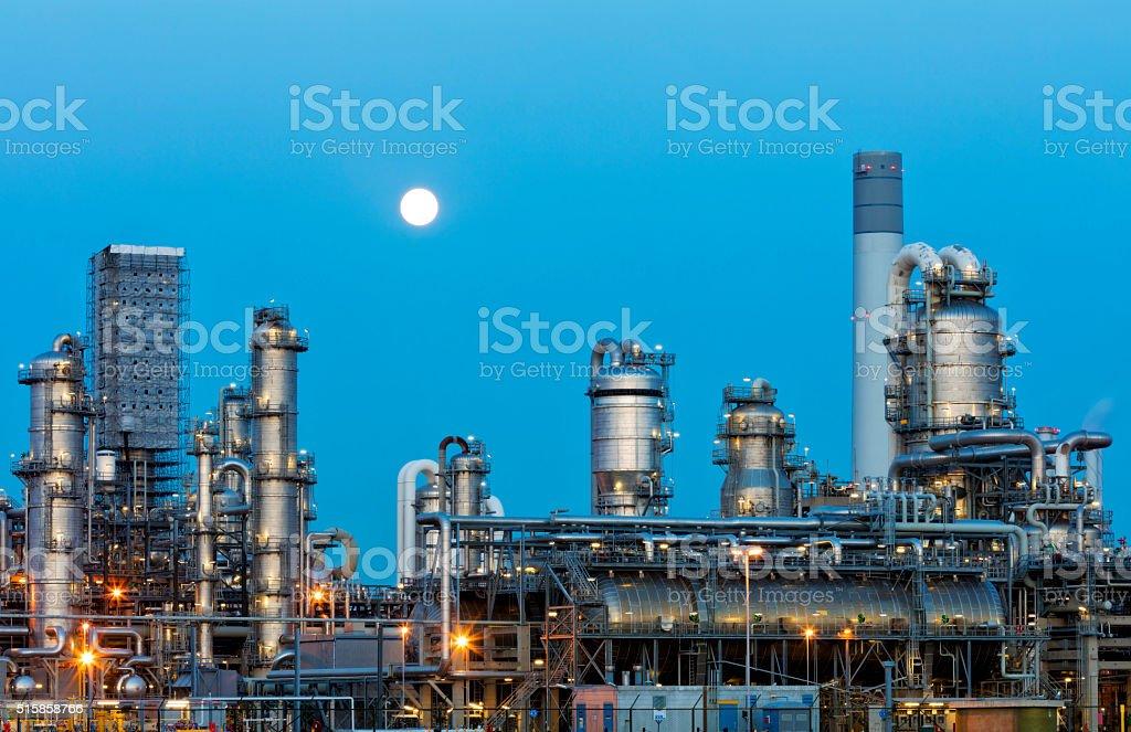 Petrochemical Plant At Dusk stock photo