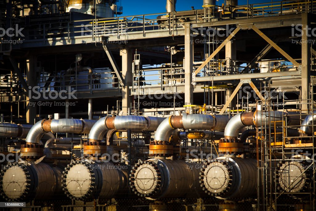 Petrochemical Plant Detail stock photo