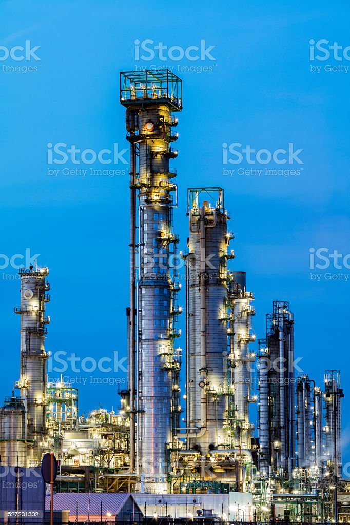 Petrochemical Plant & Oil Refinery stock photo