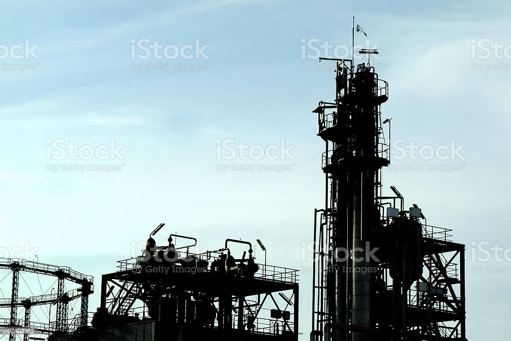 Petrochemical plant royalty-free stock photo
