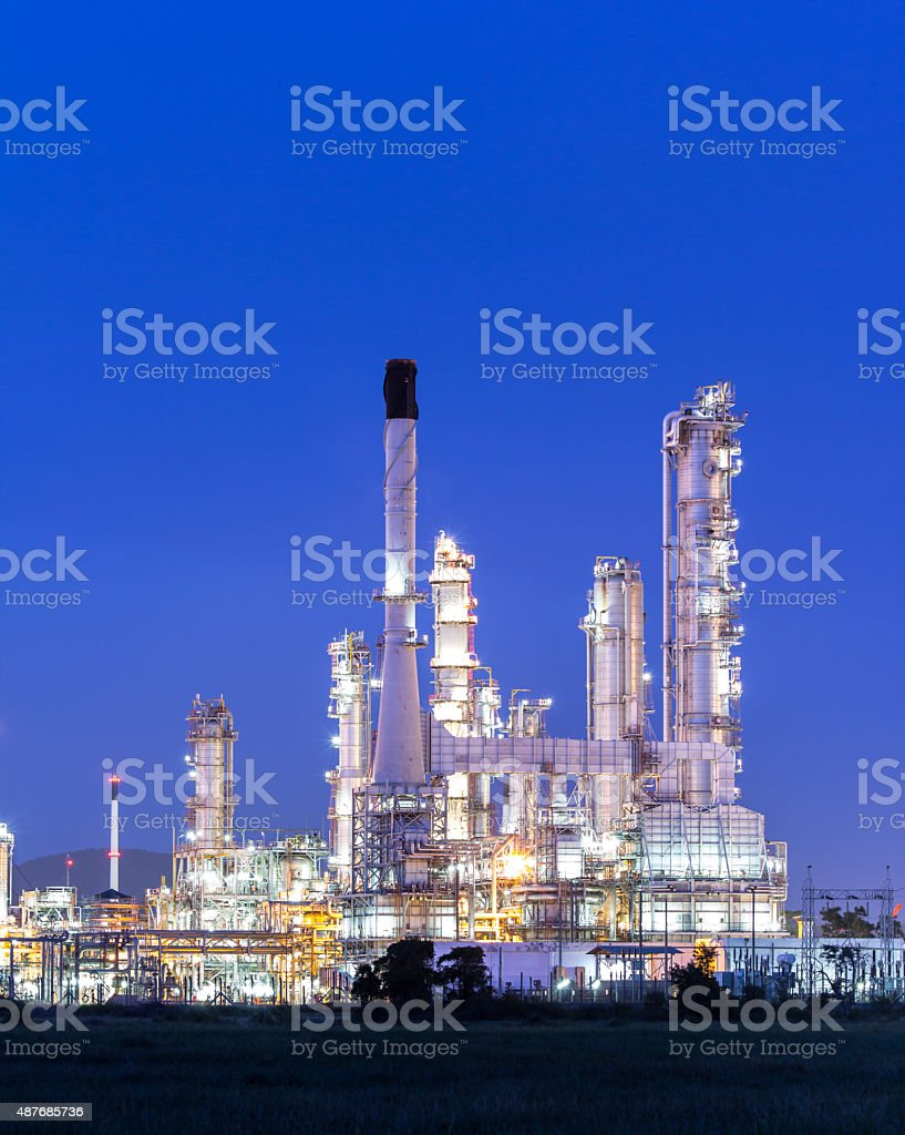 Petrochemical plant, Refinery stock photo