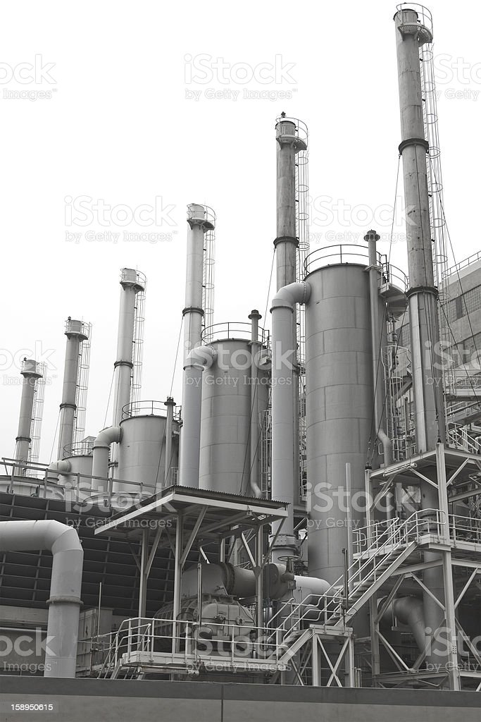 Petrochemical plants in Hong Kong royalty-free stock photo