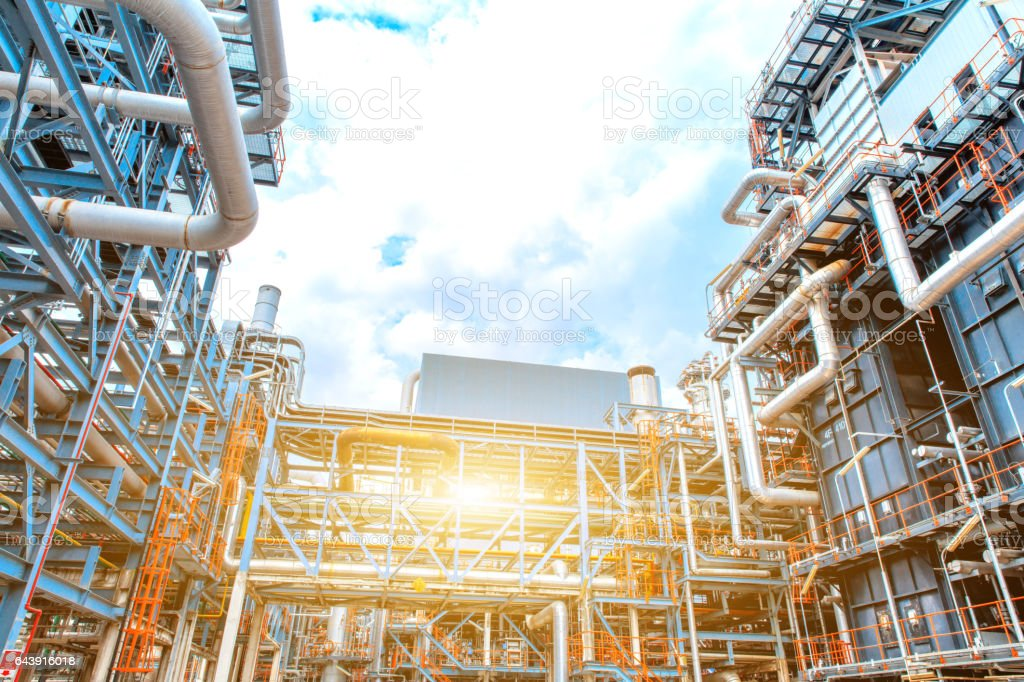 Petrochemical Refinery oil and gas industry stock photo