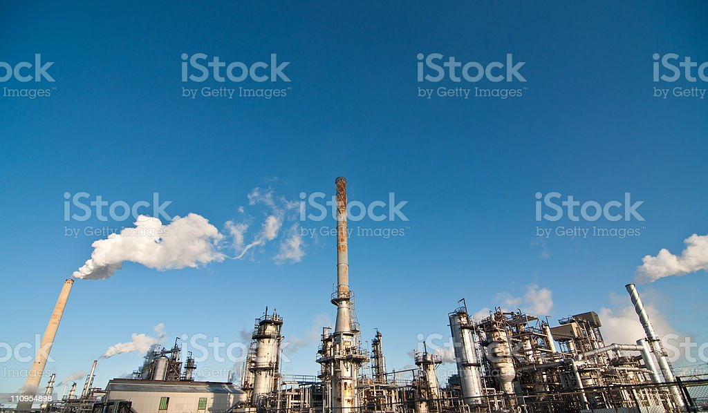 Petrochemical Refinery Plant royalty-free stock photo