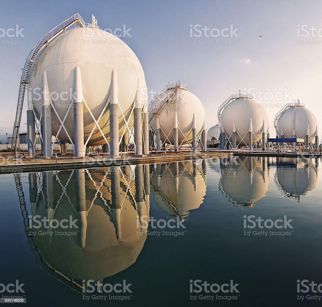 Petrochemical Refinery Plant stock photo