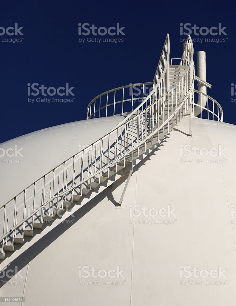 Petrochemical Storage Tank stock photo