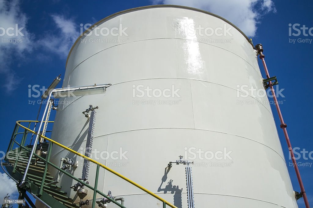 Petrochemical Tank royalty-free stock photo