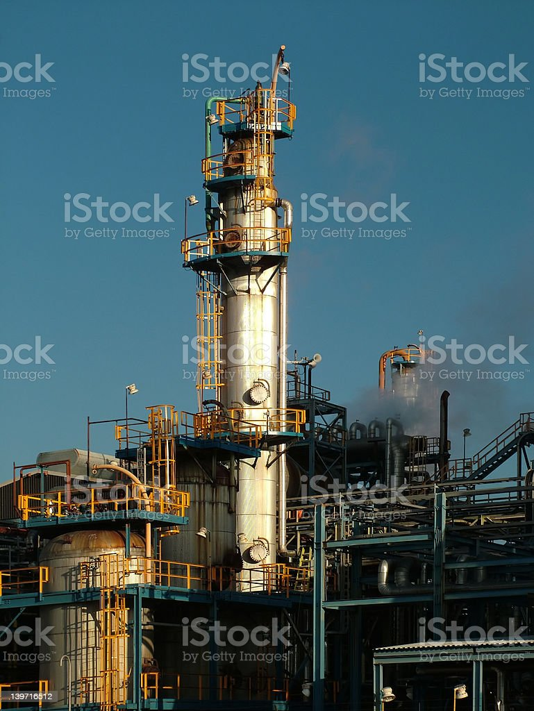 Petrochemical tower royalty-free stock photo
