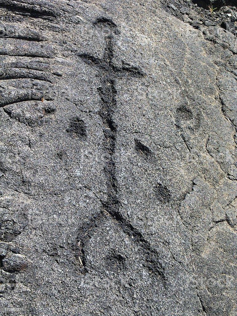 Petroglyph 3 royalty-free stock photo