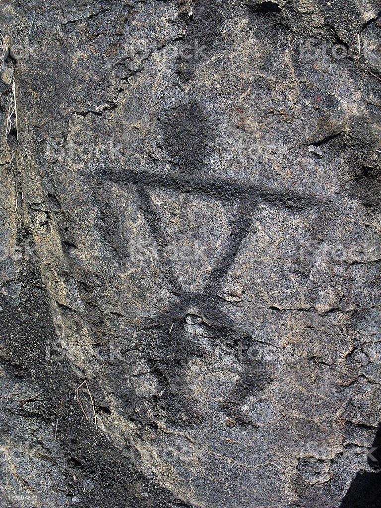 Petroglyph 4 royalty-free stock photo