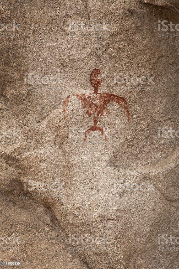Petroglyph at Vasquez Rocks Park stock photo