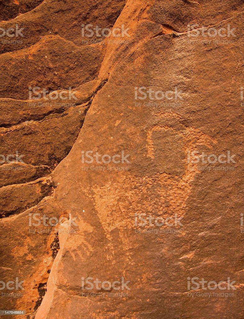 Petroglyph Canyon stock photo