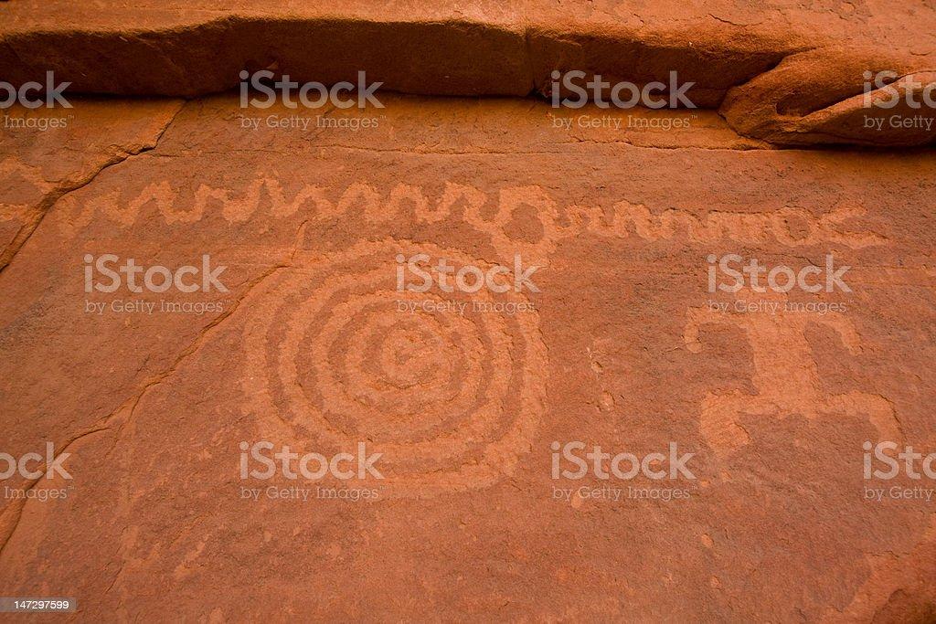Petroglyph Canyon royalty-free stock photo