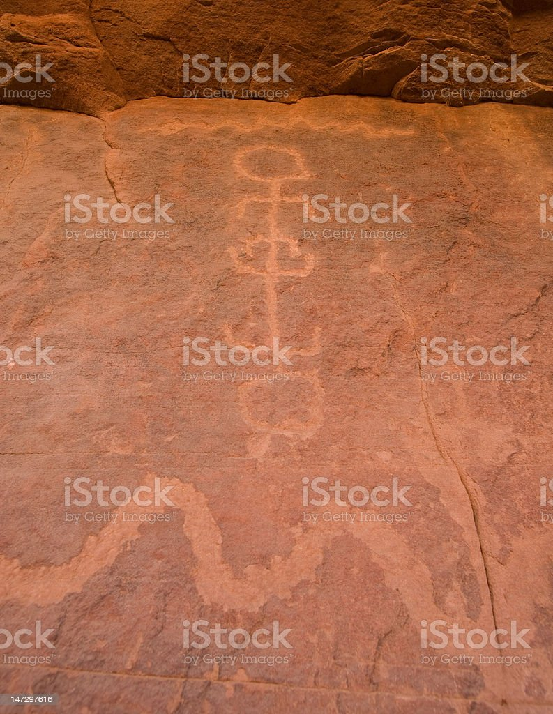 Petroglyph Canyon stock photo