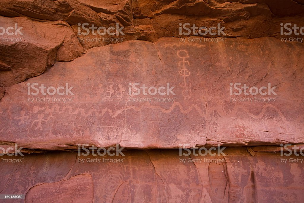 Petroglyph Canyon royalty-free stock photo