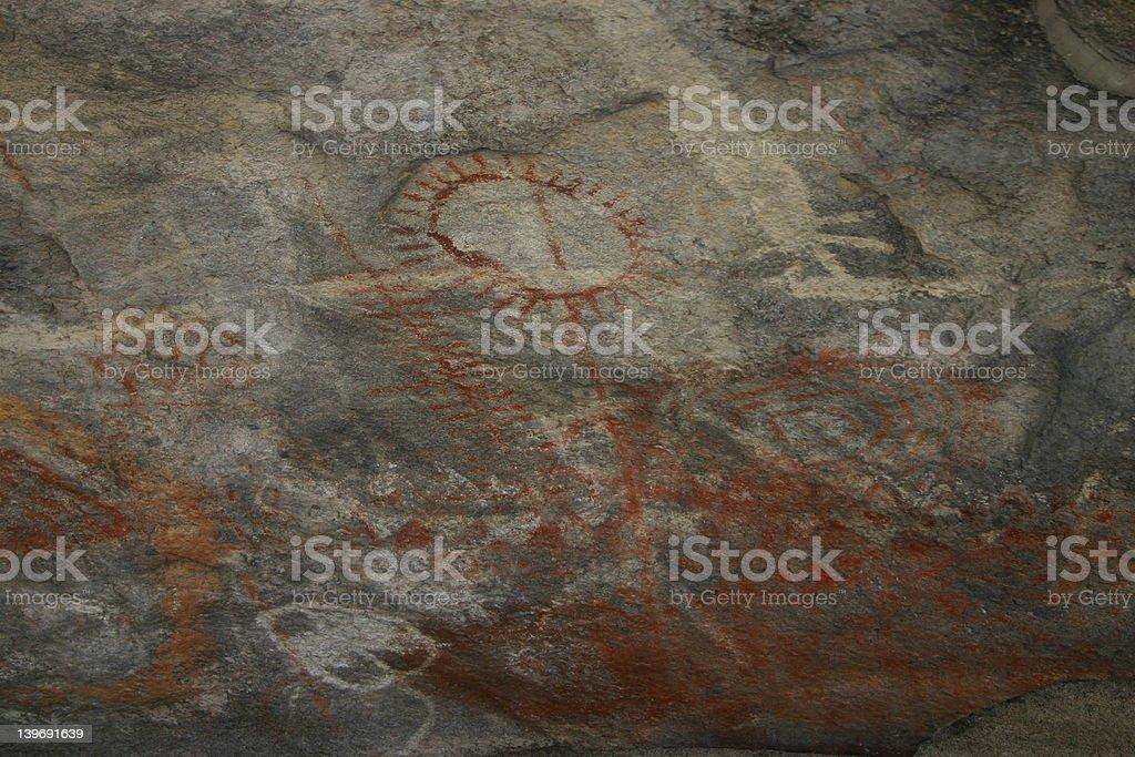Petroglyph Drawing stock photo