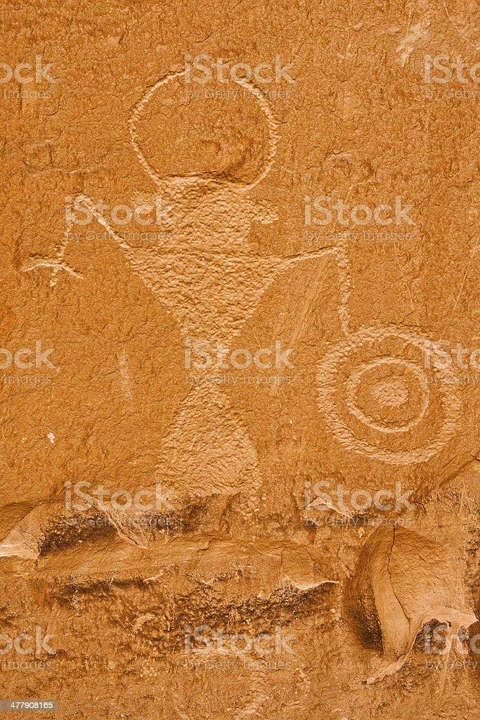 Petroglyph, Escalante RIver Canyon, Utah royalty-free stock photo
