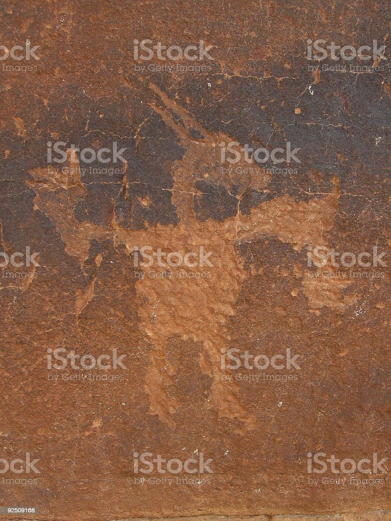 Petroglyph Goat stock photo
